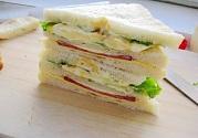 鸡蛋火腿三明治制作全过程方法
