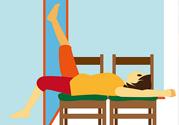 立、卧位拉筋的好处 正确做法图片