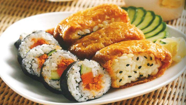 综合寿司海苔寿司豆皮寿司的做法与材料