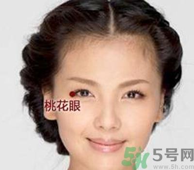 桃花眼妆图片