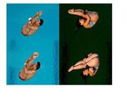里约跳水池颜色巨变是风油精洒多了?里约跳水池一夜变绿
