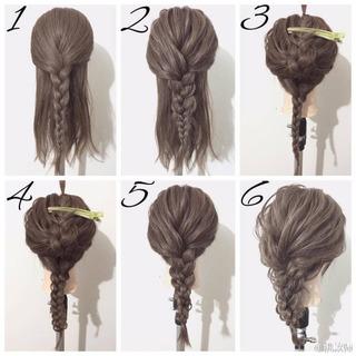 夏天好看的编发发型及编法步骤图解