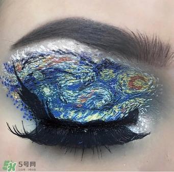 创意眼妆彩妆素描图片图片