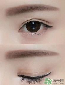 双眼皮怎么画眼线淡妆图片