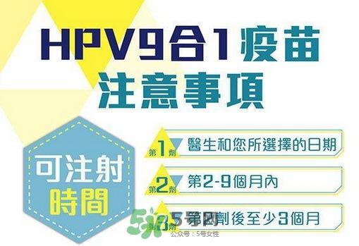 hpv九价疫苗三针间隔时间_隔多久打完最有效