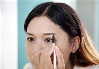 画眉教程图解 画眉毛的技巧图解一字眉