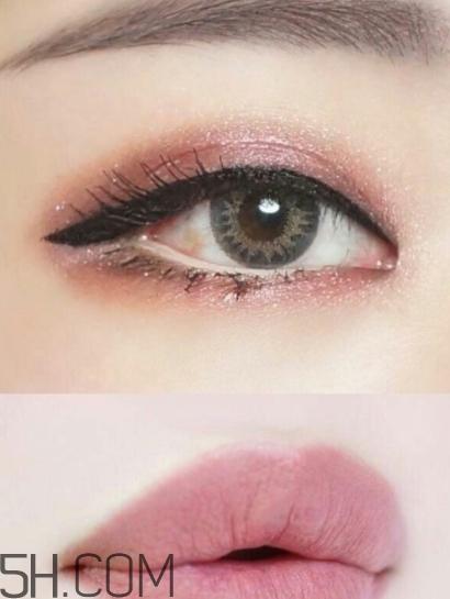 豆沙色口红搭配眼妆图片