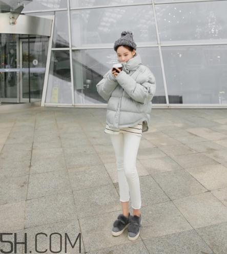 灰色棉服怎么搭配?灰色棉袄搭配图片