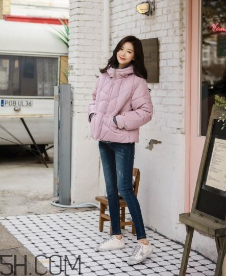 粉色棉服怎么搭配?粉色棉衣搭配图片