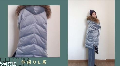 10款大毛领羽绒服搭配图片 冬天也要做仙女