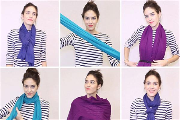 围巾的各种围法及平价品牌推荐