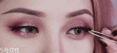 单眼皮怎么画眼影图片