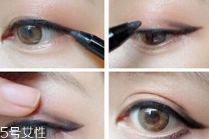 眼线胶笔怎么用?图解眼线胶笔的画法