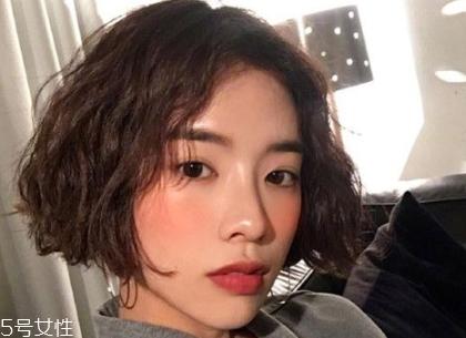 短发波波头怎么样好看 知性又轻熟的韩式中分短发