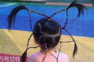 小女孩五角星辫子发型扎法 清纯俏皮超可爱