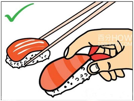 吃寿司 吃寿司的正确方法 寿司怎么吃图解