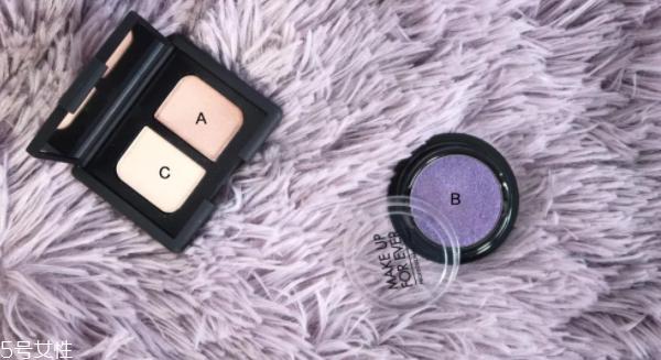 紫色眼影妆容图片