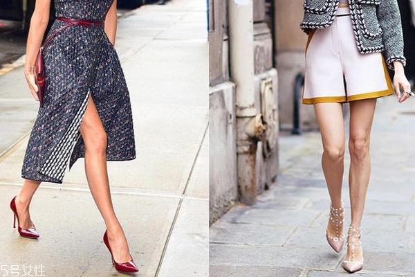 腿短粗适合穿什么鞋子?尖头高跟鞋气场两米八