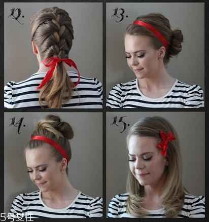 韩国发带怎么带好看 韩国发带的系法图解