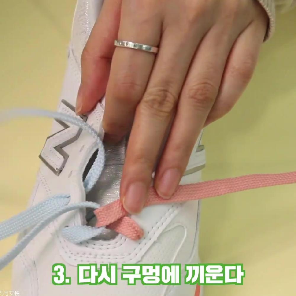鞋带梯形系法图解 梯形鞋带的系法图解