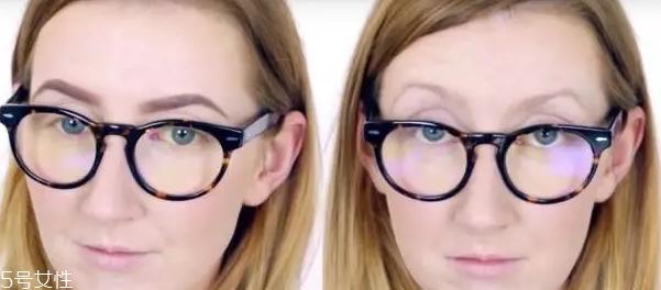 戴眼镜画眼妆教程图片