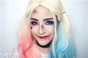 小丑女妆容图片 哈莉奎茵妆面教程