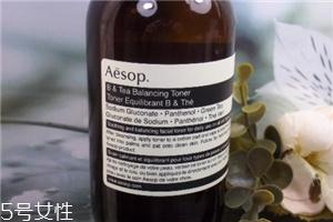 伊索绿茶平衡液适合肤质 aesop维他命b与绿茶平衡调理液