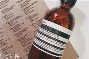 伊索绿茶水和悦木之源菌菇水哪个好 aesop维b绿茶平衡液