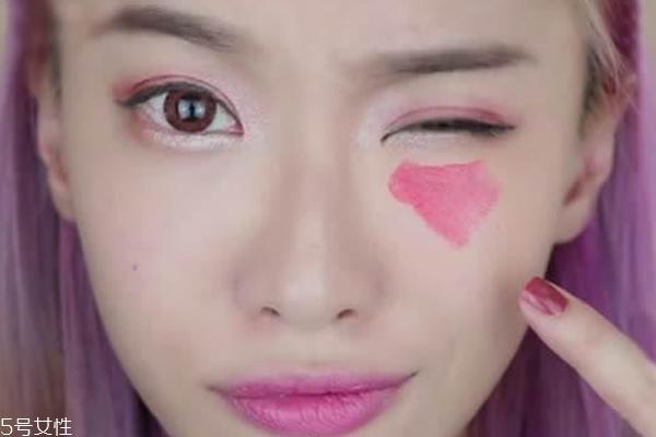 口红可以涂在眼下吗 口红遮瑕前后对比图