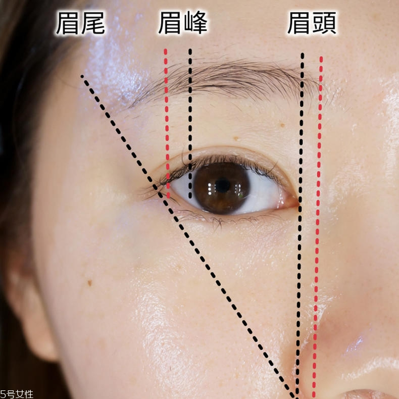 韩式粗平一字眉画法图片