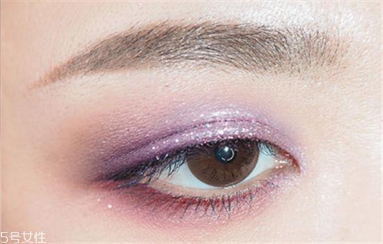 紫色仙女眼妆的画法步骤图片图片