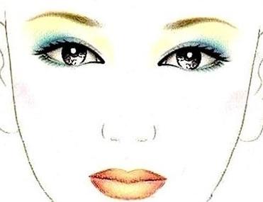 墨绿色眼影的画法步骤图图片