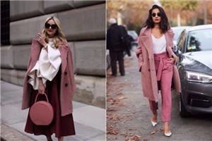 粉色大衣怎么搭配裤子 粉色大衣和裤子搭配图片