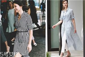 条纹衬衫裙图片欣赏 条纹衬衫裙怎么搭配
