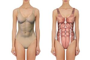 半裸泳衣照 伪裸体泳衣女性感图