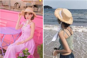 草帽什么款式好 夏天草帽搭配图片