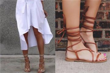 罗马凉鞋女搭配图片 罗马凉鞋搭配衣服