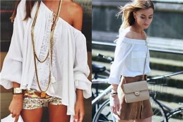 夏天女生白色系衣服搭配图片