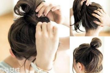 发量少简单随意丸子头教程 发量少也能hold住的丸子头