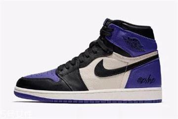 aj1 court purple黑紫脚趾发售时间_实物曝光