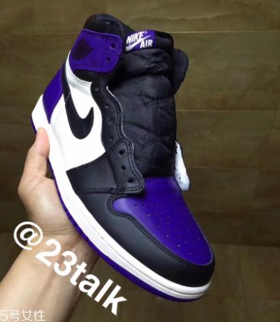 aj1 court purple黑紫脚趾发售时间 实物曝光