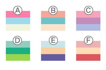 从喜欢的颜色测试恋爱性格 超准心理测验