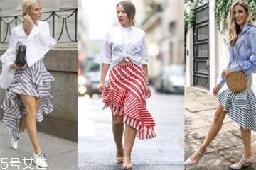 鱼尾半身裙怎么搭配 不一样的街头风