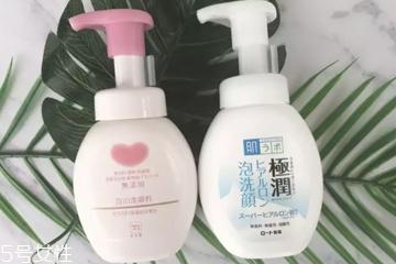 cow洗面奶和肌研极润洗面奶哪个好 2大日本泡沫洁面pk