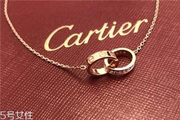 卡地亚双环项链若干钱 环环相扣的浪漫