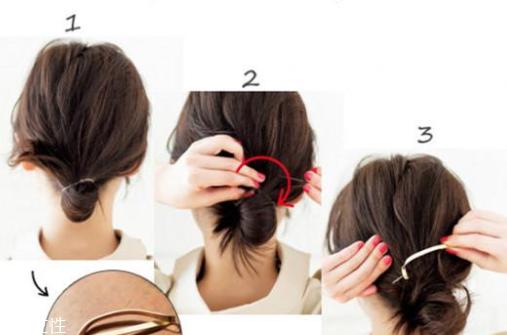 低丸子头怎么扎好看 3种绑法美貌又牢固