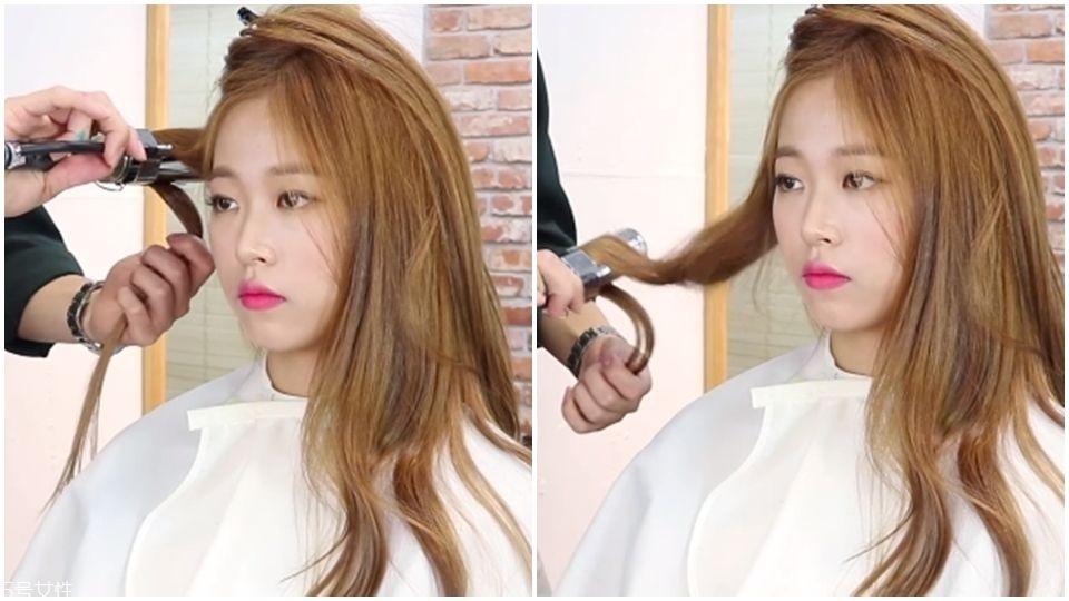 女神卷发怎么卷 韩国发型师示范3种方式