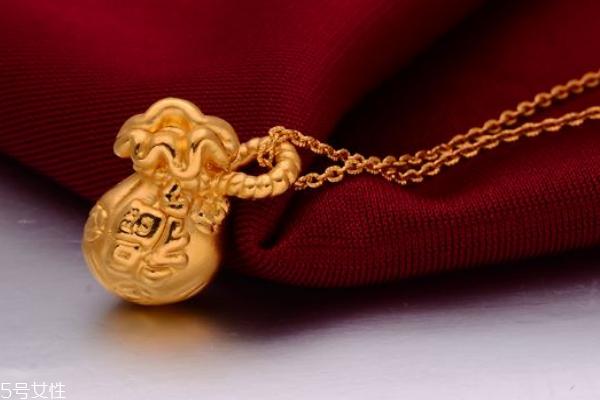 黄金福袋吊坠的寓意 带来好兆头