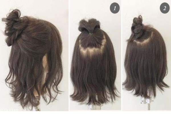 短发怎么扎丸子头好看 这2款发型随便绑绑都有型