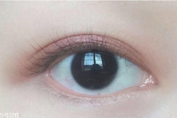 单色眼影的画法图片图片